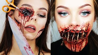 Top 10 Easy And Scary Halloween Makeup Tutorials