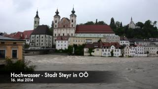 preview picture of video 'Hochwasser - Steyr - OÖ - 16.05.2014'