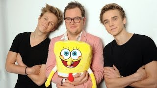 THE SPONGEBOB SQUAREPANTS MOVIE SPONGE OUT OF WATER  RECORDING THE SEAGULL CREW  UK  Paramount