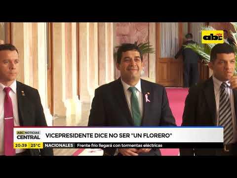 Vicepresidente dice no ser un florero