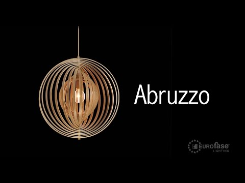 Video for Abruzzo Wood 23-Inch One-Light Pendant