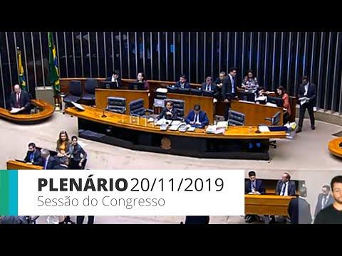 Plenário - Sessão do Congresso - Votação dos vetos 34 a 38 e 41 - 20/11/19 - 15:09