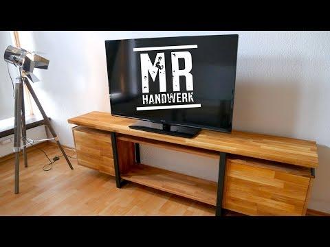 So baust du dir dieses TV BOARD im Industrial Style selber! ANLEITUNG