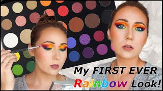 PRIDE Inspired Makeup!! | My FIRST EVER Rainbow Look!