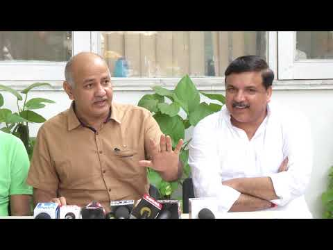 Dy CM Manish Sisodia Briefs Media on the LG not willing to Coordinate with any one