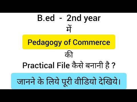 Pedagogy of commerce ki practical file kase banani h b.ed 2nd year me ????