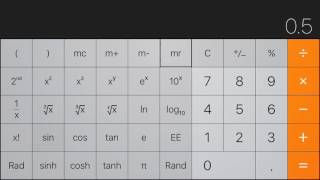 iPhone Calculator Tutorial: Trig Functions