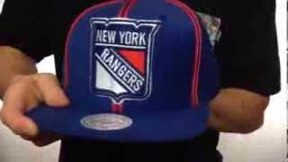 Rangers 'XL-LOGO SOUTACHE SNAPBACK' Navy Adjustable Hat by Mitchell & Ness