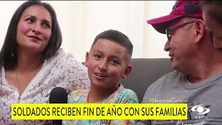 FINAL DE AÑO INESPERADO PARA SOLDADOS DE LA PATRIA