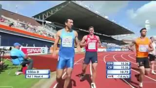 Decathlon 100m- European Championships Amsterdam 2016