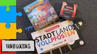 #Unboxing 4in1 - Draftosaurus | Stadt, Land, Vollpfosten Picasso & Das Kartenspiel | Klattschen