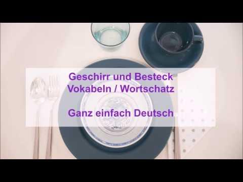 Deutsch Vokabeln A1 Geschirr und Besteck