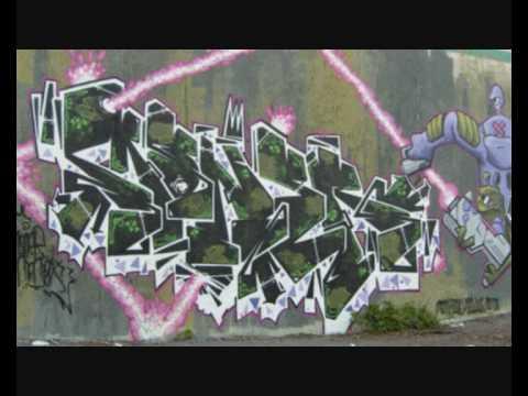 Des petits trous ! Graffiti - Moner x Gainsbourg - 2010