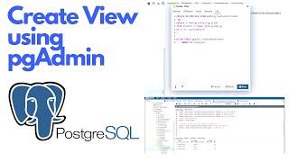 Create View in PostgreSQL using pgAdmin tool (tutorial) #ezettutorial #ezetideas