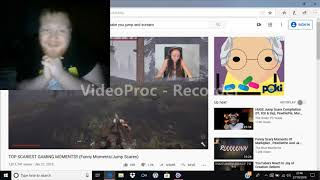 Scary video reaction
