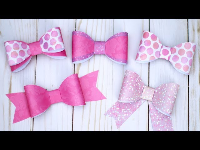 Diy Paper Bow Tutorial 5 Bows With 1 Template Essyjae