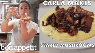 Carla Sears Mushrooms to Crispy Golden Perfection | From the Test Kitchen | Bon Appetit