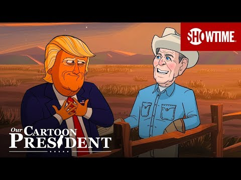 Cartoon Reagan Teaches Cartoon Trump How To Be A Republican President  | Our Cartoon President