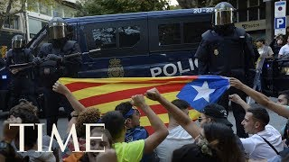 At Least 12 People Arrested In Spain Amid Catalan Independence Demonstrations | TIME