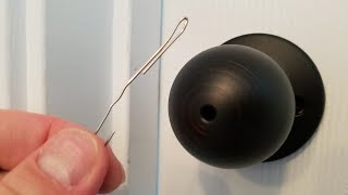 How to Pick Locks of Indoor Bedroom Bathroom with Paper Clips