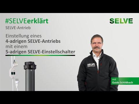 SELVE erklärt: Einstellung eines 4-adrigen SELVE-Antriebs mit einem 5-adrigen SELVE-Einstellschalter