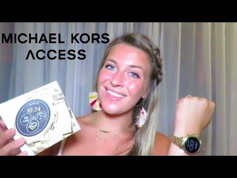 Michael Kors Access Smart Watch Unboxing, Set Up, and Tutorial   Carson Keegen