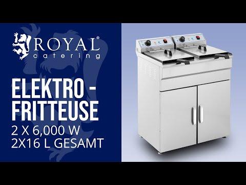 Fritteuse - 2 x 16 Liter - Unterschrank