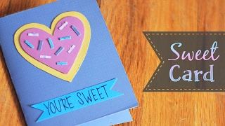 How To Make A Sweet Valentine Card + Pattern/Coloring Page