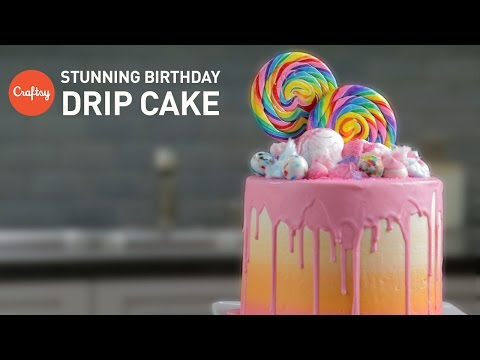 Video How to Make a Loaded Birthday Cake (Candy Drip Cake) | Cake Decorating Tutorial