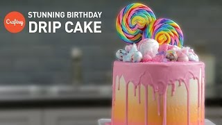 How To Make A Loaded Birthday Cake (Candy Drip Cake) | Cake Decorating Tutorial