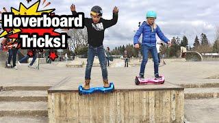 Hoverboard Tricks at the Skatepark!