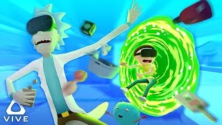 RICK AND MORTY IN VIRTUAL REALITY! | Rick and Morty VR Simulator (HTC Vive Virtual Rick-ality)