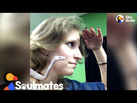 Adorable Snake Is So Affectionate With Her Mom | The Dodo Soulmates