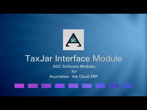 Detailed description of ASC Interface for TaxJar features