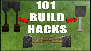 101 MINECRAFT BUILD HACKS