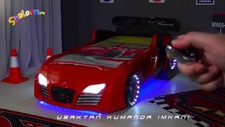 Видео: кровать машинка Audi для мальчика