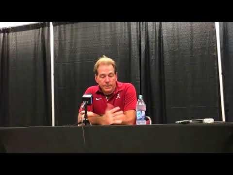 Alabama coach Nick Saban -- Texas A&M postgame