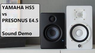 Yamaha HS5 Vs Presonus Eris E4.5     Sound Demo