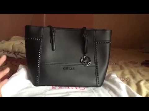Review Guess Delaney Medium black studed – Bahasa Indonesia