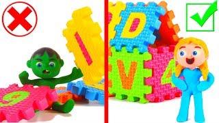 Kids Building An ABC Castle ❤ Cartoons For Kids