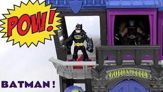 Superhero Batman Imaginext Gotham City for Joker Penguin Riddler Bane and Mr Freeze Toys TT4U