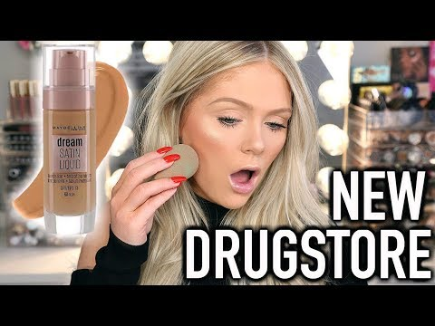 NEW MAYBELLINE DREAM SATIN LIQUID FOUNDATION | FIRST IMPRESSIONS REVIEW