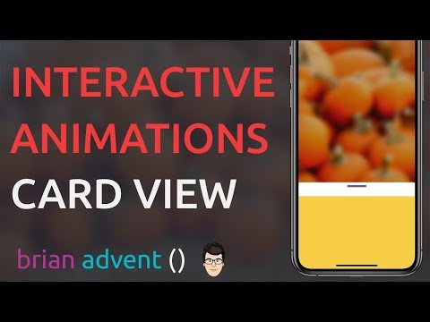 iOS Swift Tutorial: Awesome Interactive Card View Animation with UIPropertyAnimator