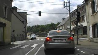 preview picture of video 'Driving On Rue Graveran & Rue de Kerlobret, Châteaulin, Finistere, Brittany, France 23rd July 2010'