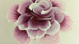 """Рисуем """"одним мазком"""".Бутон и роза. Акриловые краски."""