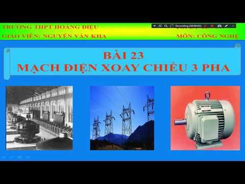 Bài 23: Mạch điện xoay chiều ba pha (tiết1)