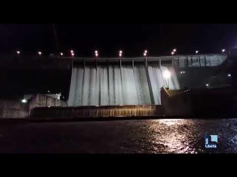 Diga di Mignano, l'acqua rilasciata durante la notte