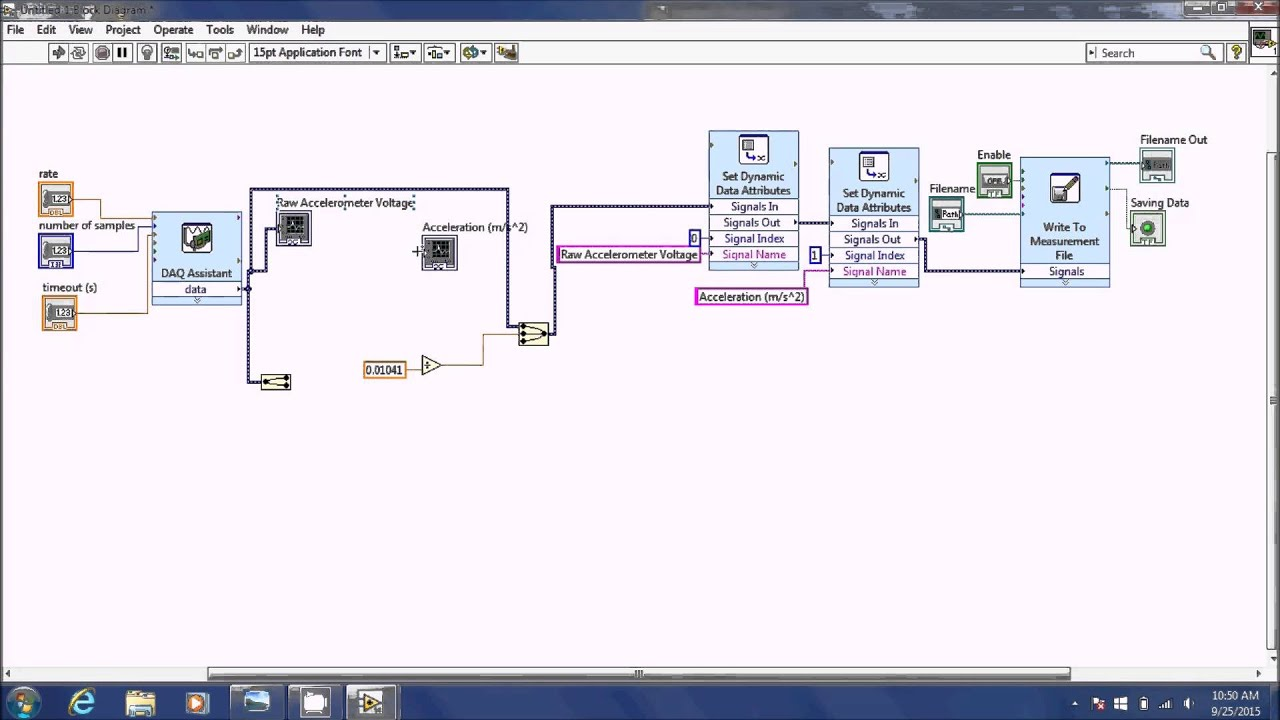 Measurements I - Using Accelerometers in LabView - YouTube