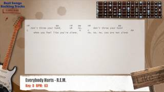 Everybody Hurts   R.E.M. Guitar Backing Track With Chords And Lyrics