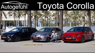 2020 Toyota Corolla FULL REVIEW Hatch vs Sedan vs Touring Sports comparison Hybrid 1.8 vs 2.0